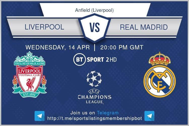 Premier League 14/4/2021 - Liverpool v Real Madrid