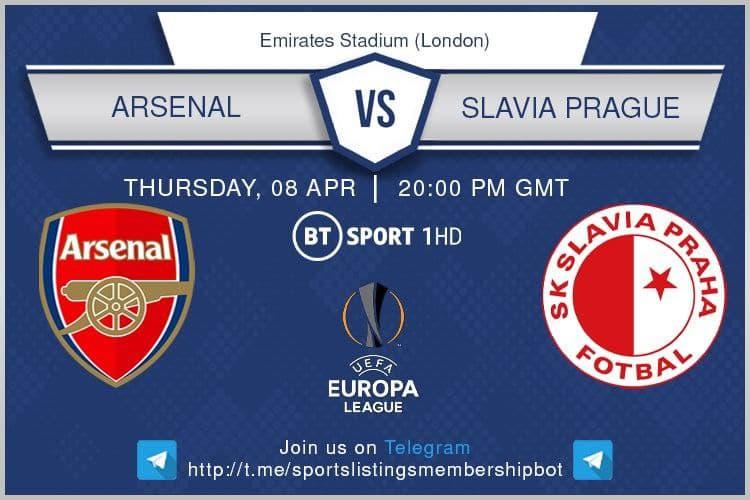 Europa League 8/4/2021 - Arsenal v Slavia Prague
