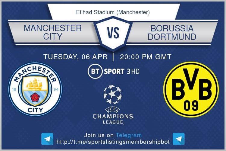 Champions League & Others 6/4/2021 - Manchester City v Borussia Dortmund