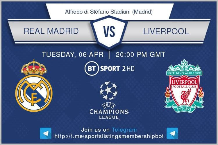 Champions League & Others 6/4/2021 -Real Madrid v Liverpool