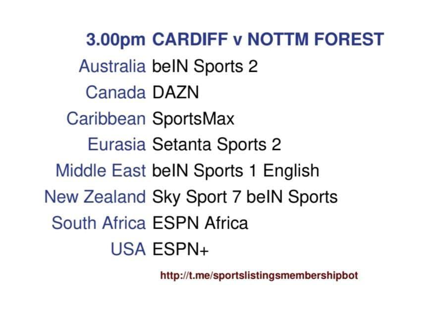 Championship & Others 2/4/2021 - Cardiff v Nottingham Forest