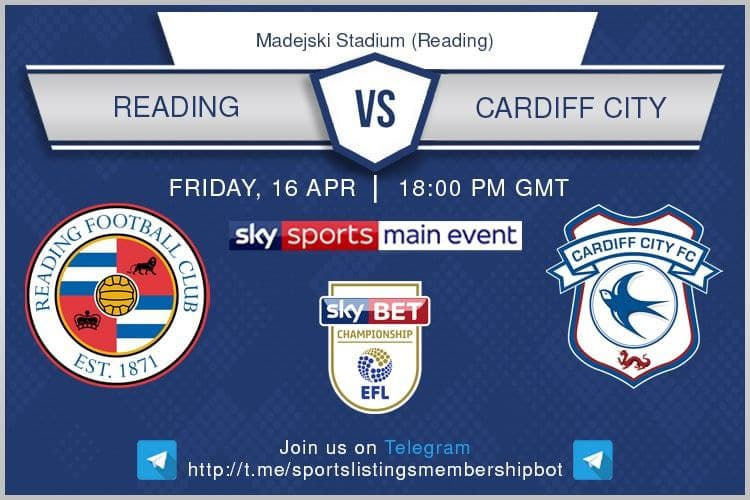 Premier League & Others 16/4/2021  - Reading v Cardiff
