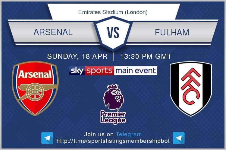 Premier League & Others 18/4/2021 - Arsenal v Fulham