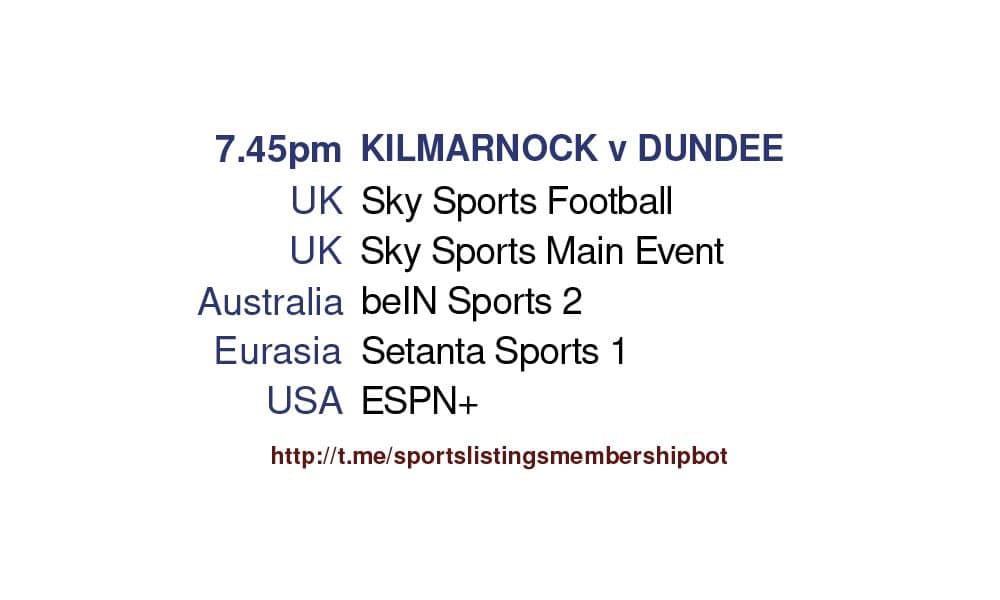 Scottish Premiership play-off final second leg - Kilmarnock v Dundee