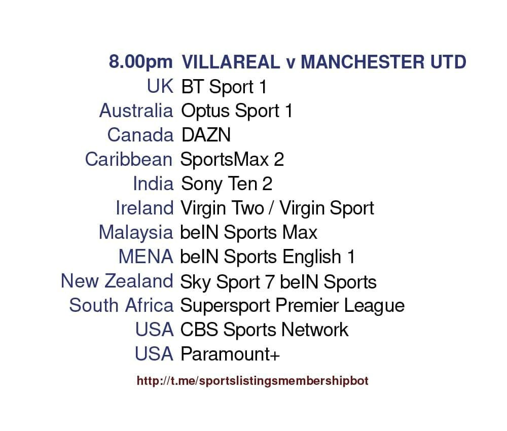 Europa League 26/5/2021 - Villarreal v Manchester United
