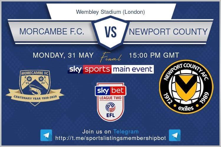 League Two 31-5-2021 - Morecambe v Newport County.