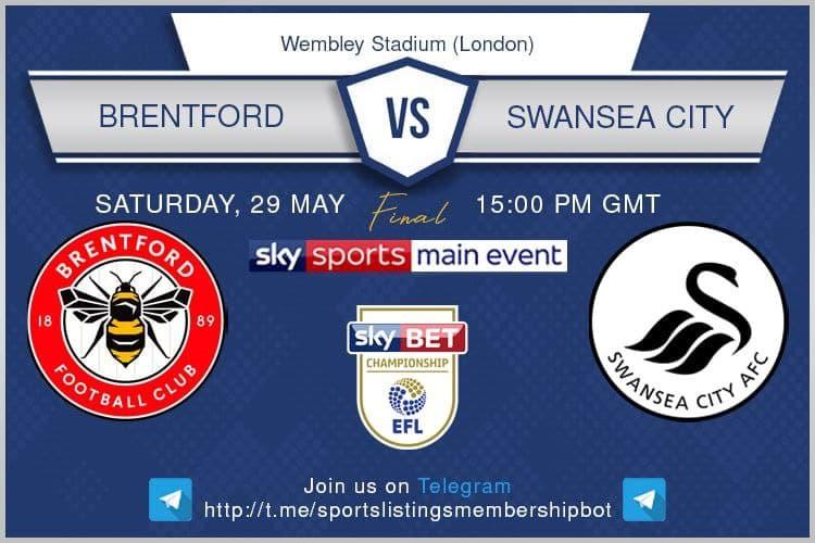 Champions League 29/5/2021 -Brentford v Swansea
