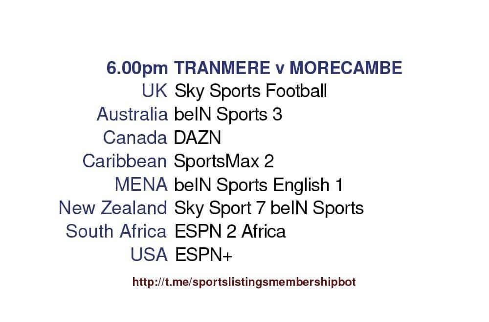League 2 Play-Offs 20/5/2021 -Tranmere v Morecambe