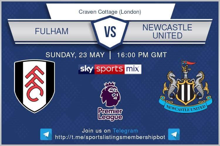 Premier League 23/5/2021 - Fulham v Newcastle United