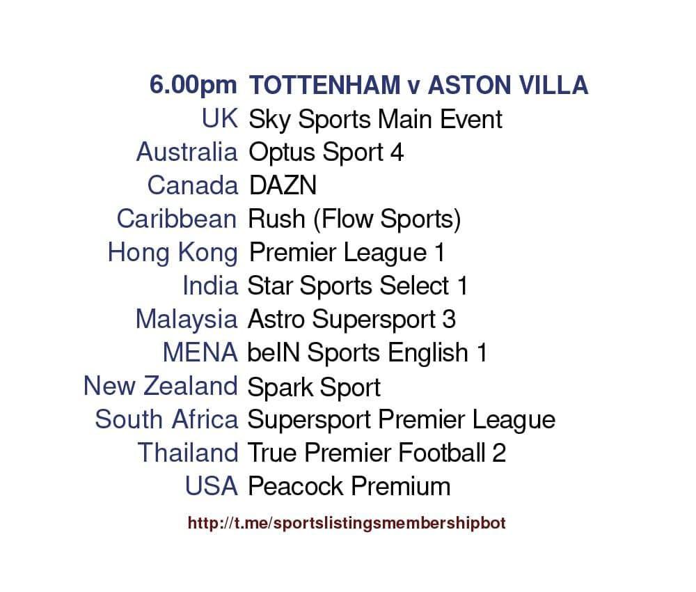 Premier League 19/5/2021 -Tottenham v Aston Villa