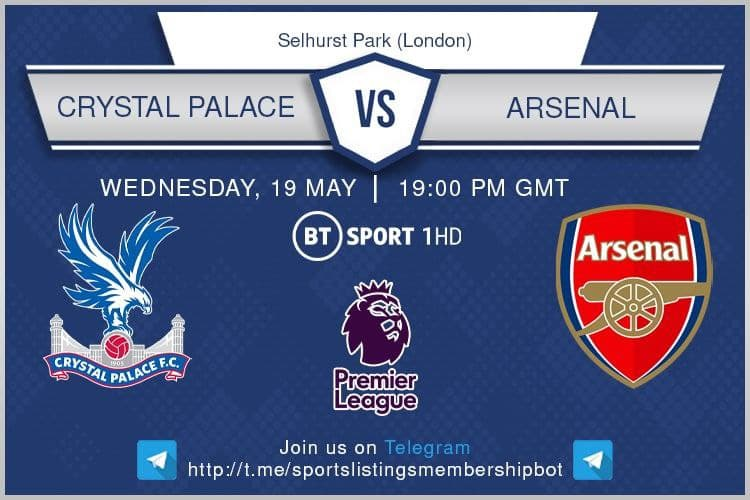 Premier League 19/5/2021 -Crystal Palace v Arsenal