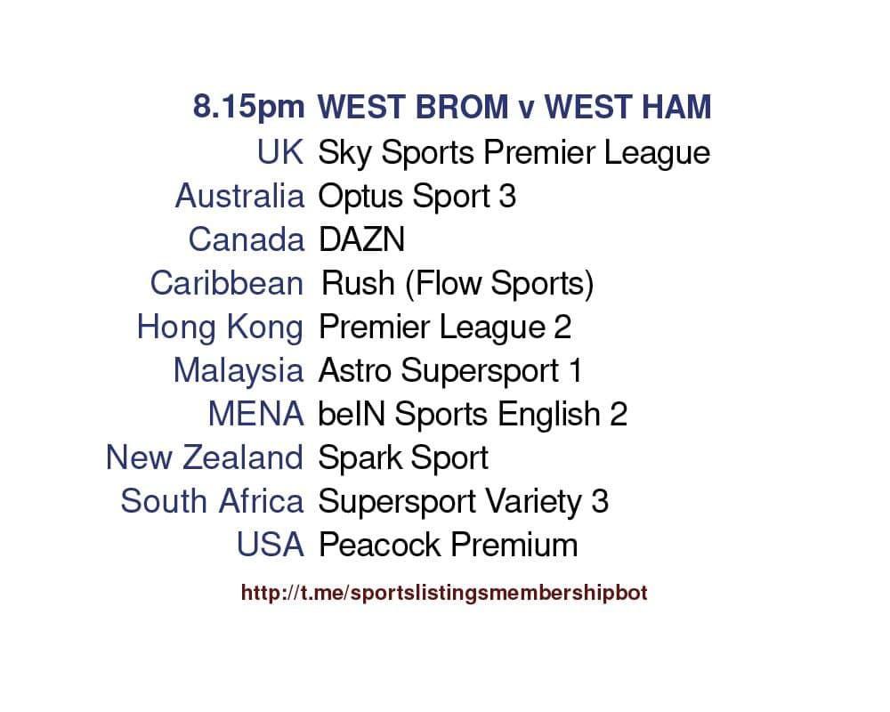 Premier League 19/5/2021 - West Brom v West Ham