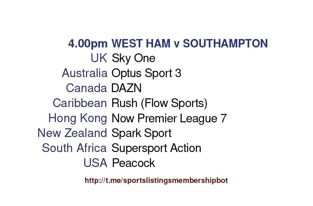 Premier League 23/5/2021 - West Ham v Southampton
