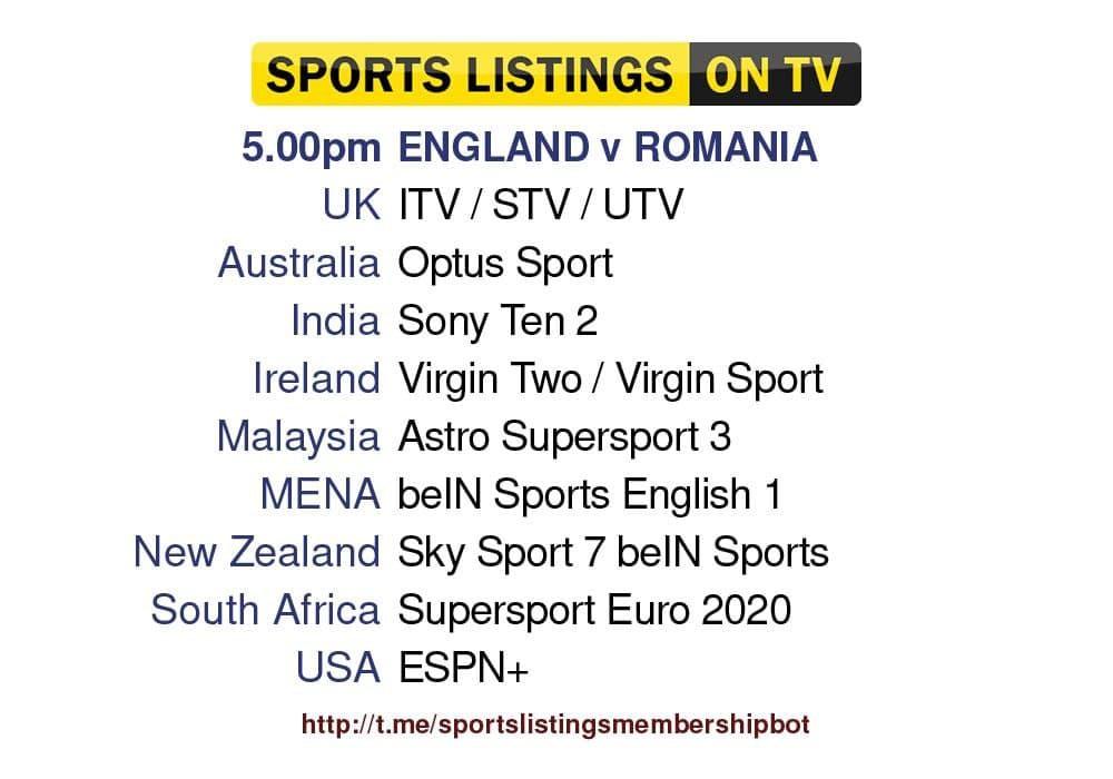 International Friendlies 6/6/2021 - England v Romania Detailed