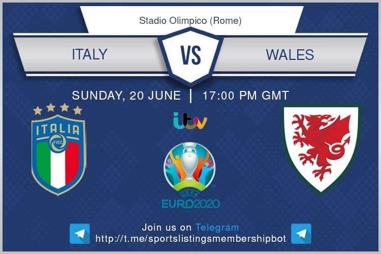Euro 2020 20/6/2021 Italy v Wales