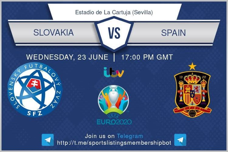 Euro 2020 23/6/2021 - Slovakia v Spain