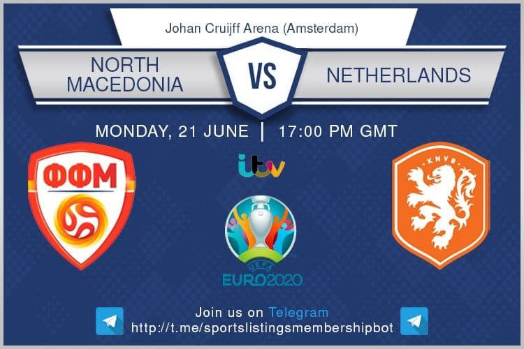 Euro 2020 21/6/2021 - North Macedonia v Netherlands