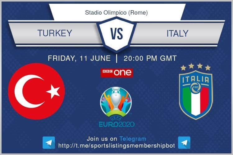 Euro 2020 11/6/2021 - Turkey v Italy
