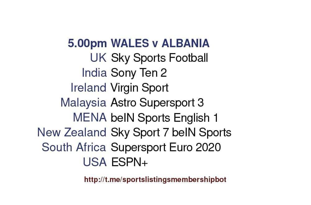 International Friendlies 5/6/2021 - Wales v Albania Detailed