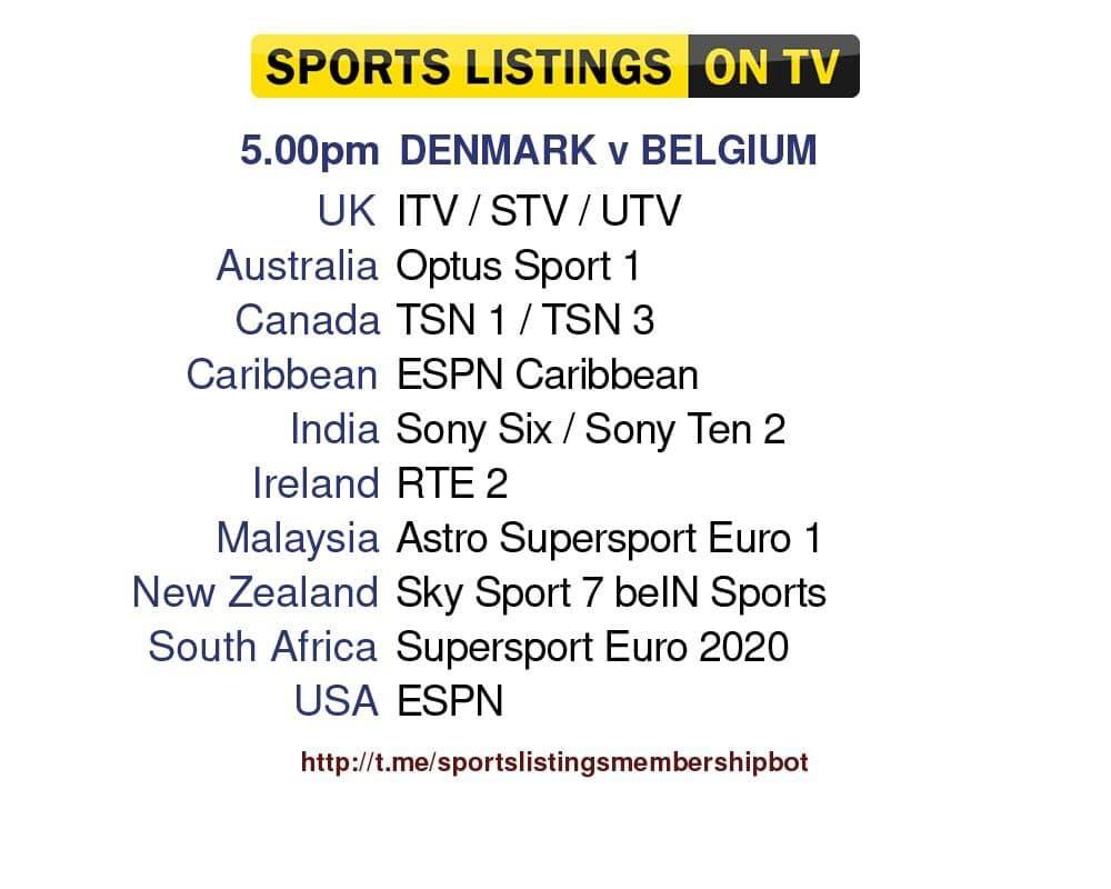 Euro 2020 17/6/2021 - Denmark v Belgium