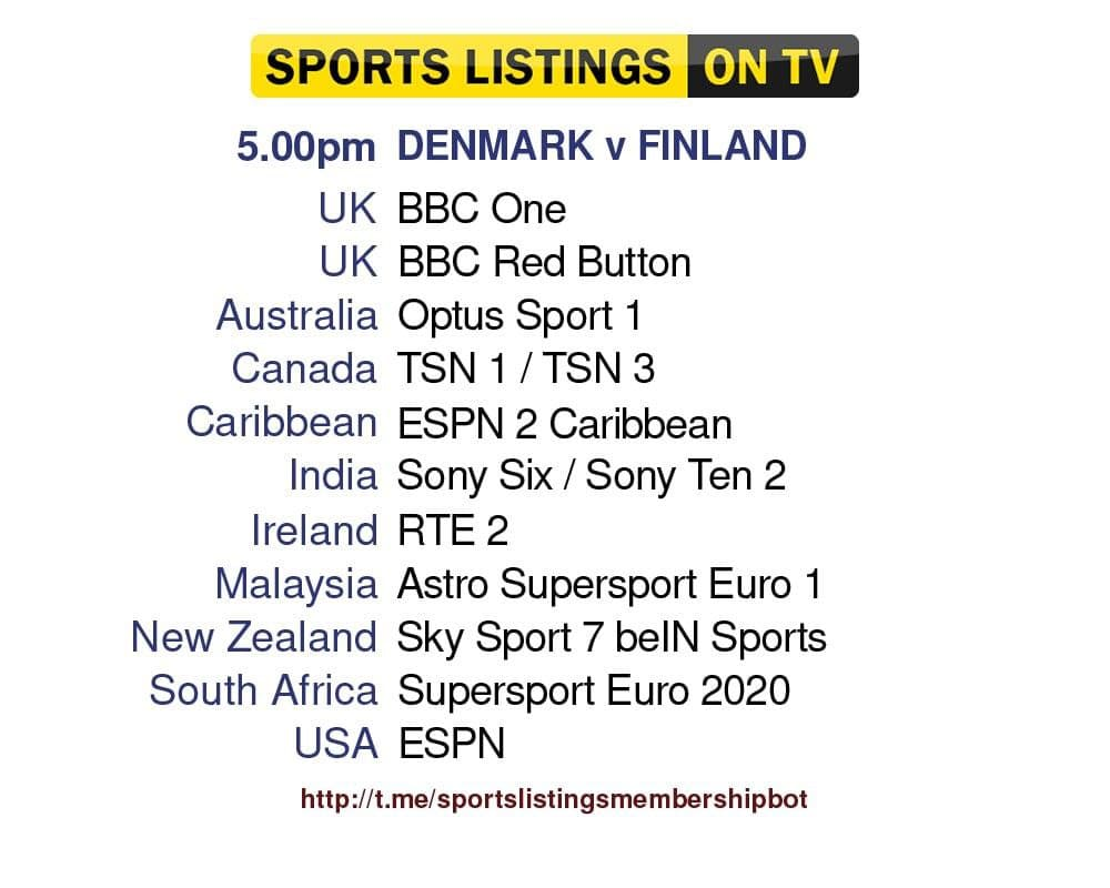 Euro 2020 12/6/2021 - Denmark v Finland