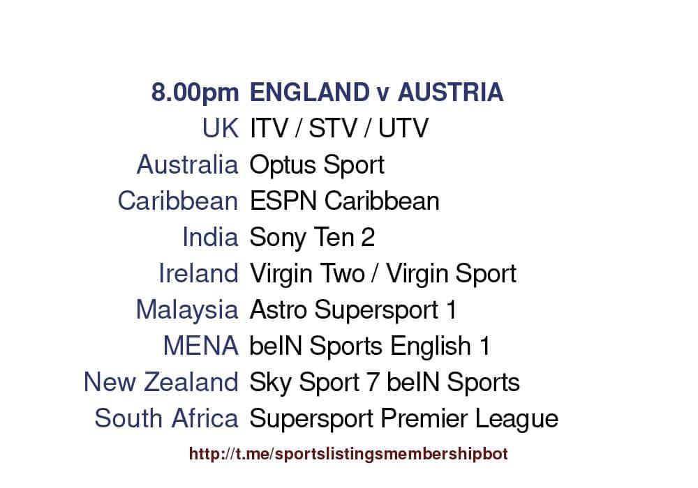 International Friendlies 2/6/2021 - England v Austria Detailed
