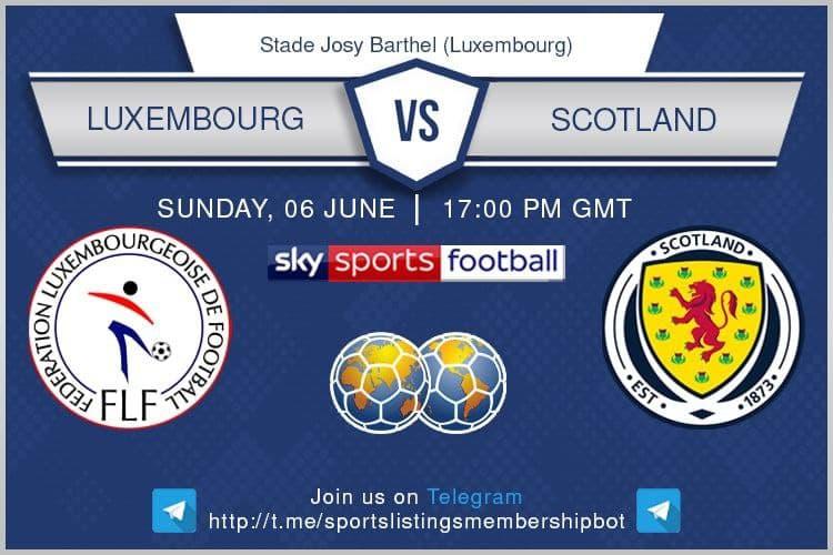 International Friendlies 6/6/2021 -Luxembourg v Scotland