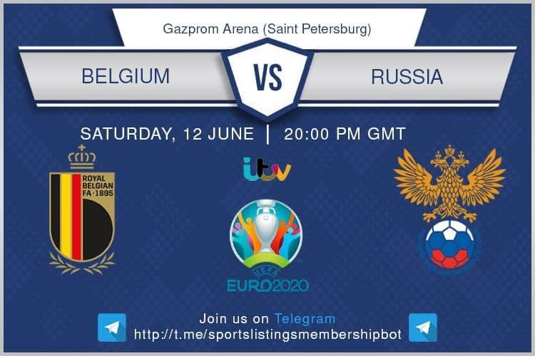 Euro 2020 12/6/2021 -Belgium v Russia