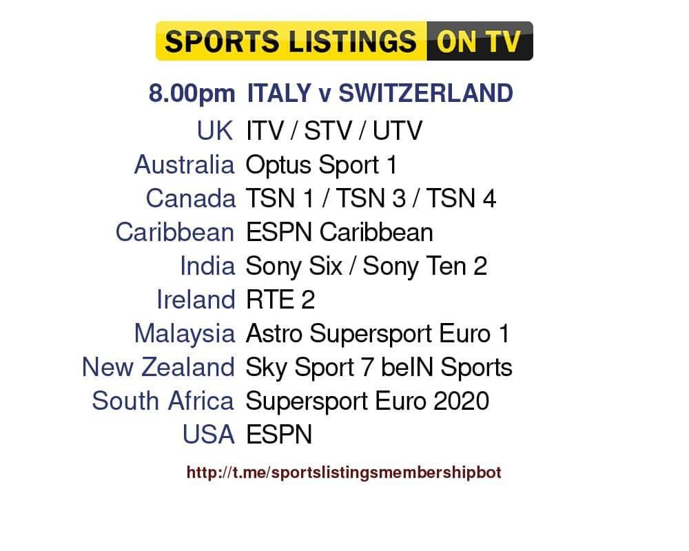 Euro 2020 16/6/2021 - Italy v Switzerland