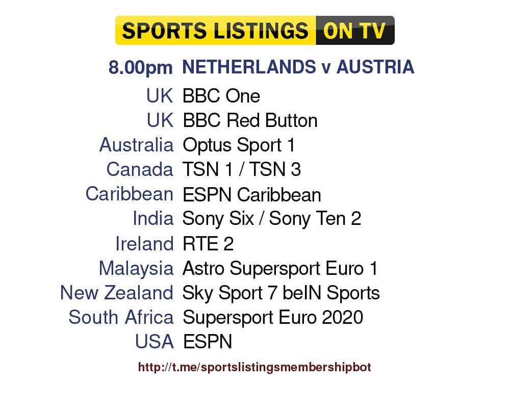 Euro 2020 17/6/2021 - Netherlands v Austria