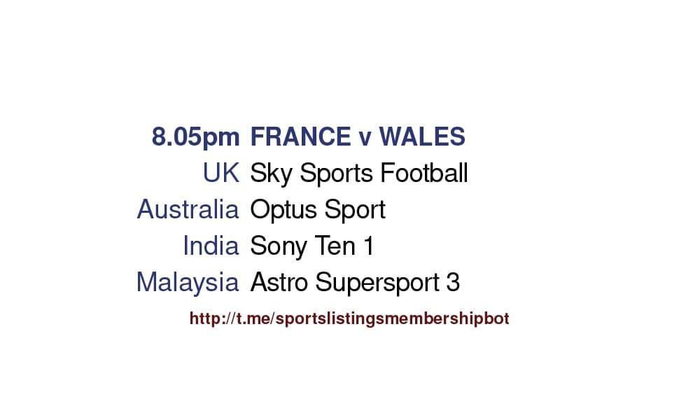 International Friendlies 2/6/2021 - France v Wales Detailed