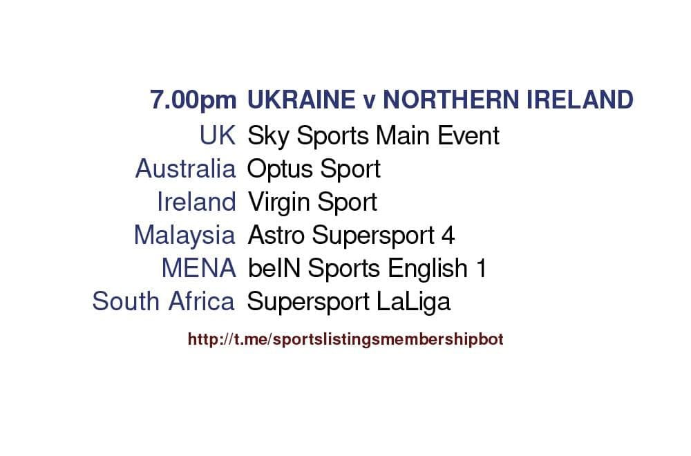 International Friendlies 3/6/2021 - Ukraine v Northern Ireland
