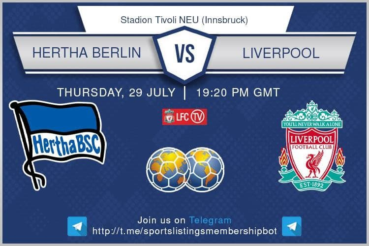 Football 29/7/2021 - Hertha BSC v Liverpool
