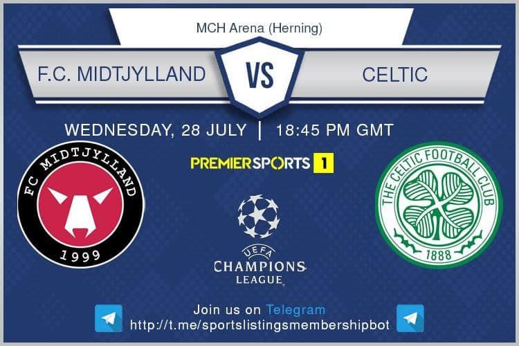 Football 28/7/2021 - FC Midtjylland v Celtic