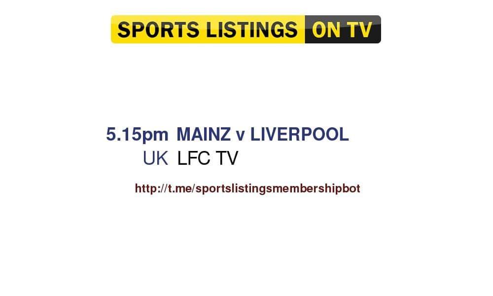 Football 23/7/2021 - Mainz v Liverpool