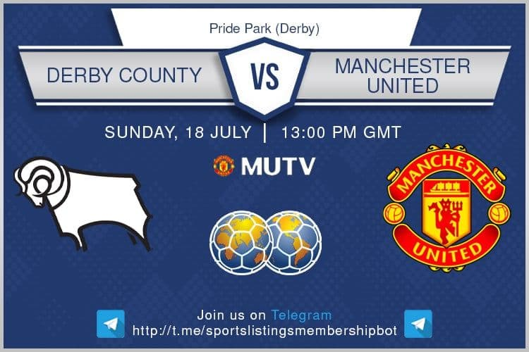 Football 18/7/2021 - Derby v Manchester United