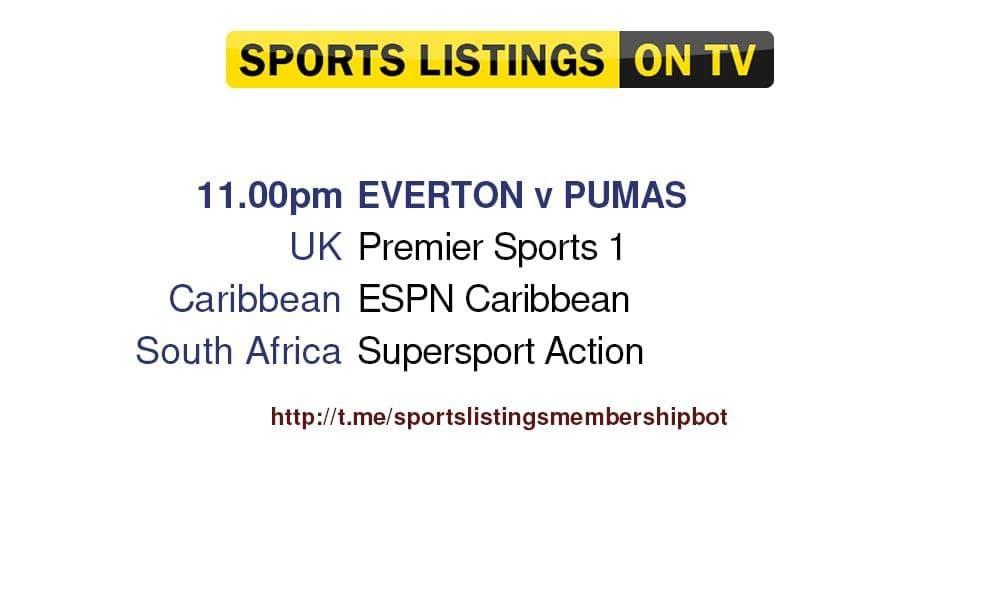Football 28/7/2021 -  Everton v Pumas - detailed