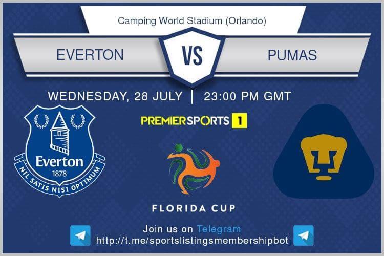 Football 28/7/2021 - Everton v Pumas