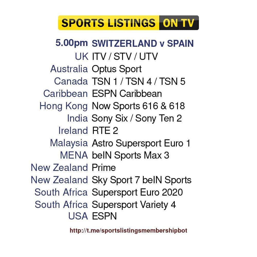 Euros 2/7/2021 - Switzerland v Spain