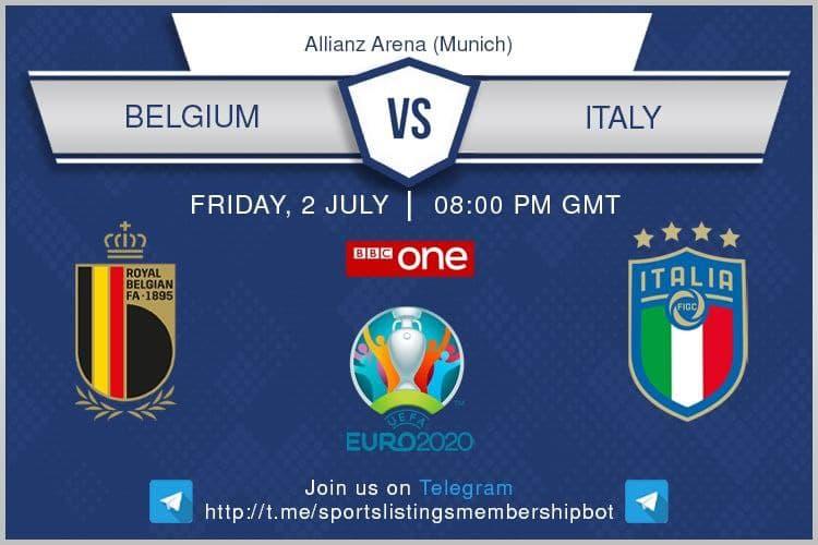 Euros 2/7/2021 - Belgium v Italy.