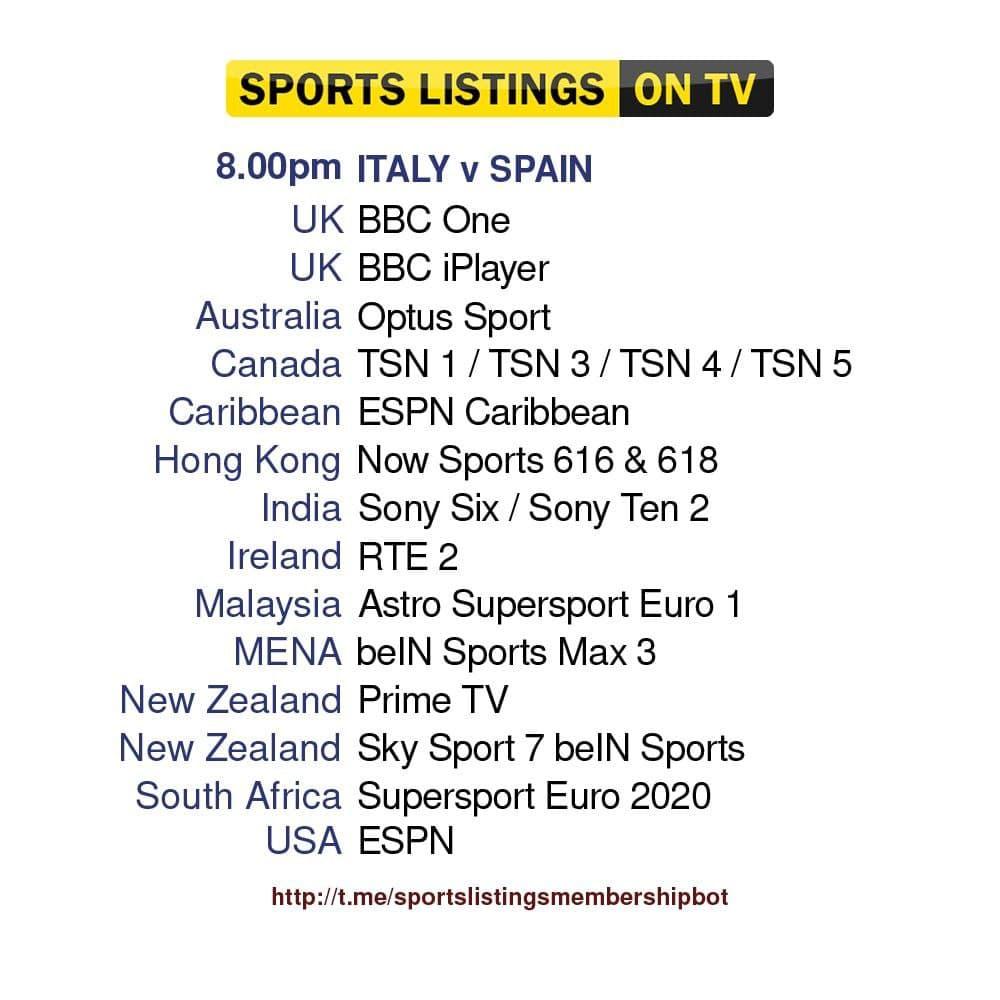 Euros 6/7/2021 - Italy v Spain
