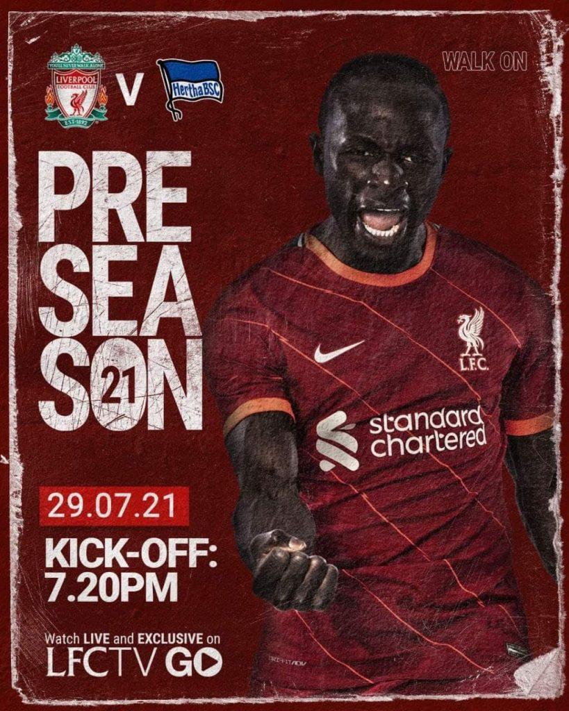 Football 29/7/2021 - Hertha Berlin v Liverpool Promo Poster