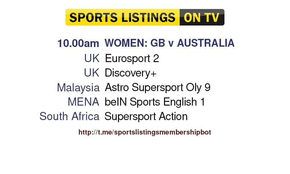 Football 30/7/2021 - GB v Australia Detailed