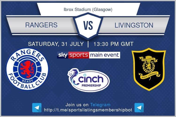 Football 31/7/2021 - Rangers v Livingston