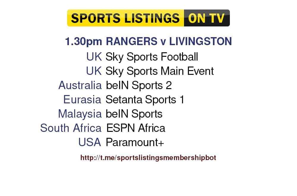 Football 31/7/2021 - Rangers v Livingston detailed