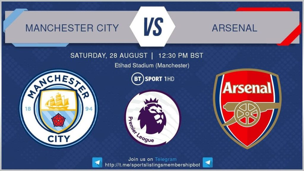 Football 28/8/2021 - Manchester City v Arsenal
