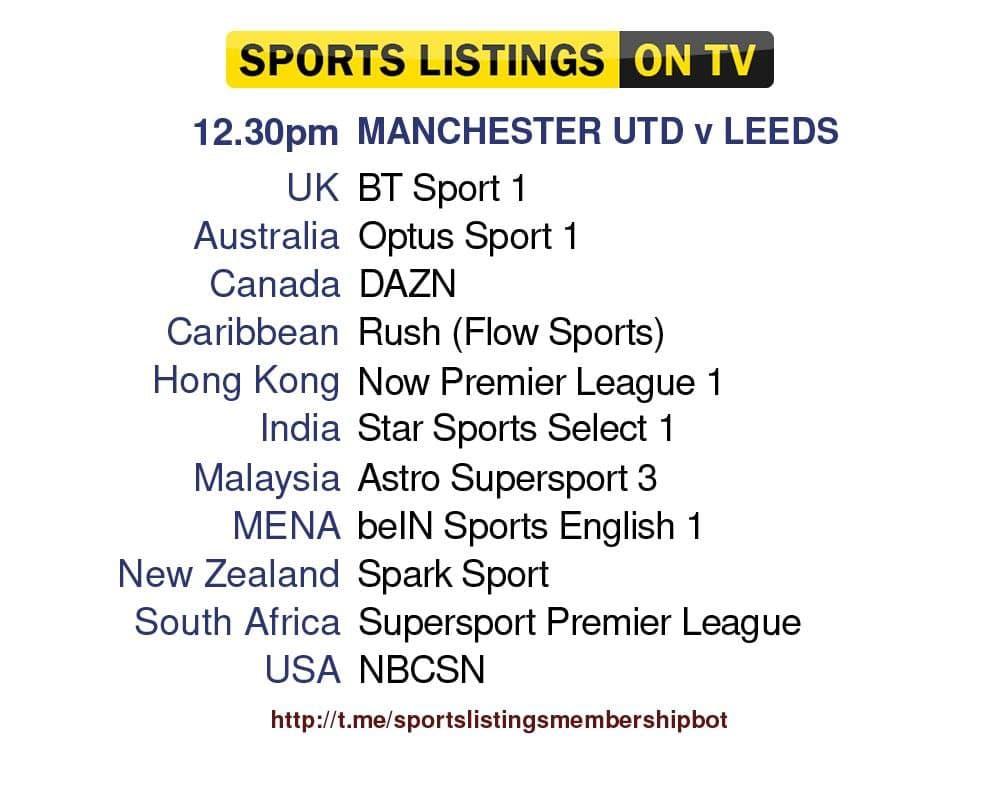 Football 14/8/2021 - Manchester United v Leeds United Detailed