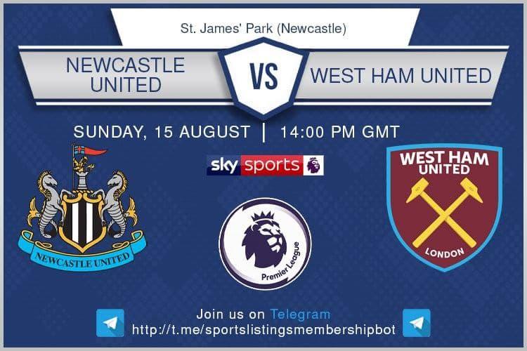 Football 15/8/2021 - Newcastle v West Ham