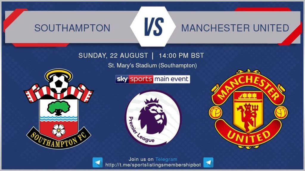 Football 22/8/2021 - Southampton v Manchester United