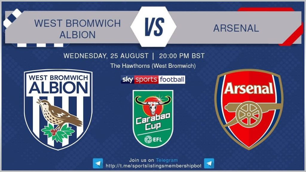 Football 25/8/2021 - West Bromwich Albion v Arsenal